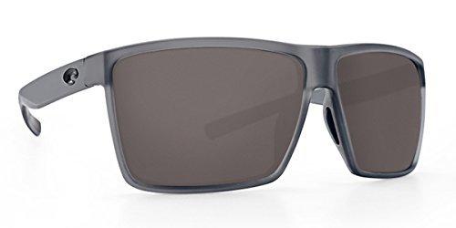 - Costa Del Mar Costa Del Mar RIN156OGP Rincon Gray 580P Matte Smoke Crystal Frame Rincon, Matte Smoke Crystal Frame, Gray 580P, OS