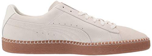 7464e7e432 PUMA Suede Classic Sneaker, Whisper White-Gum, 5 M US