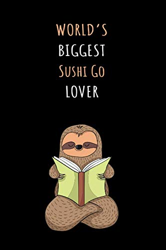 Price comparison product image World's Biggest Sushi Go Lover: Blank Lined Notebook Journal With A Cute and Lazy Sloth Reading