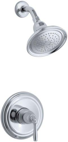 KOHLER T396-4E-CP Devonshire Rite-Temp Pressure-Balancing Shower Faucet Trim, Polished Chrome