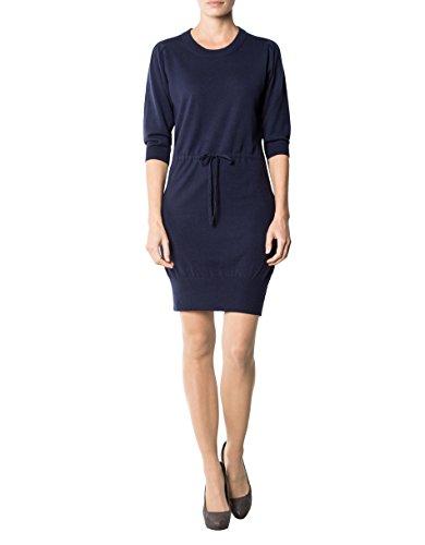 Kleid Dress L Unifarben Merinowolle Farbe Blau Größe Damen GANT APTxOP
