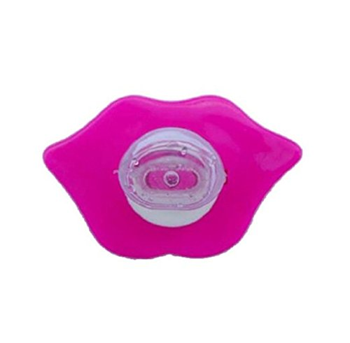 Silicone Funny Lip Shape Baby Pacifier Red - 9