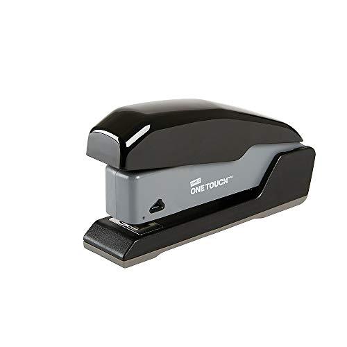 Desktop Half Strip - Staples 1798849 One-Touch Compact Desktop Stapler Half-Strip Capacity Black (44431)