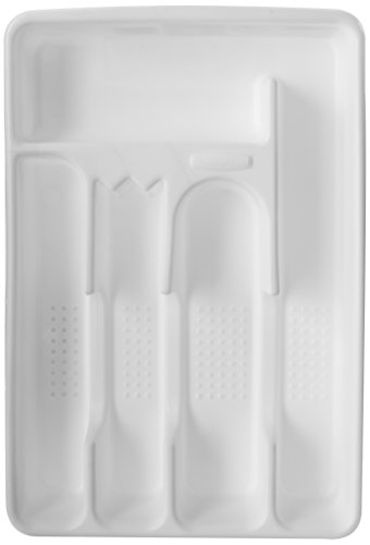 Rubbermaid Cutlery Tray, Small, White FG2919RDWHT ()