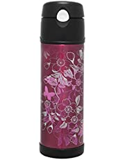 Thermos Stainless Steel Insulated Hydration Bottle, 530ml, Floral Magenta, HS4010FMAUS