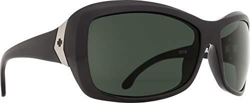 Spy Optic Farrah Flat Sunglasses,Black/Happy Gray/Green Polar,62 mm
