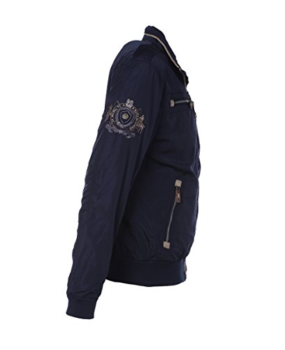 VAN SANTEN & VAN SANTEN Herren Jacke Regenjacke mit Reißverschluss/Zip dunkelblau/midnight navy Polostyle mit Stickereien Größen: XXL 3XL