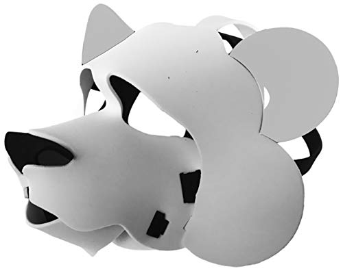 Polar Bear Mask - Light, Comfortable, and Adjustable to any Size -