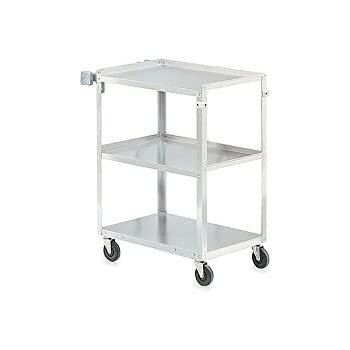 "Vollrath (97121) 30-7/8"" Medium-Duty Stainless Steel Utility Cart"