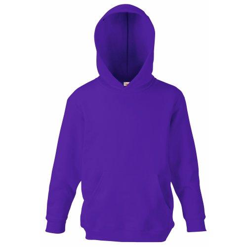 Fruit of the Loom Childrens Unisex Hooded Sweatshirt/Hoodie (12-13) (Purple)