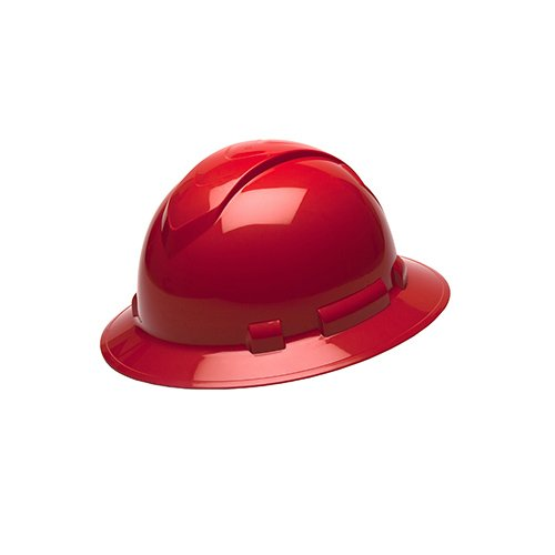 Pyramex HP54120 Ridgeline Red Full Brim Style Standard Ratchet Hard Hat(12 Each) from Pyramex Safety