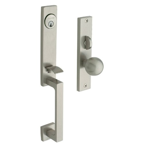 (Baldwin 6562.ENTR New York Single Cylinder Mortise Handleset Trim Set, Satin Nickel)