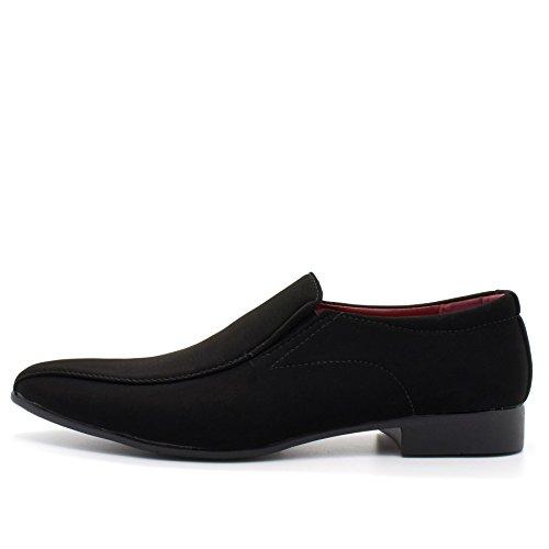 London Footwear - Sandalias con cuña hombre Black Suedette
