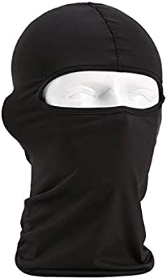 Cycling Cold Weather-Black UKMASTER Windproof Balaclava Ski Full Face Mask Men Winter Warm Fleece Neck Face Cover Fit Skiing