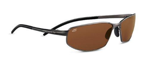 Serengeti Granada Sunglasses (Metallic Gun Frame - Drivers Polarized - Lens Serengeti Drivers Sunglasses