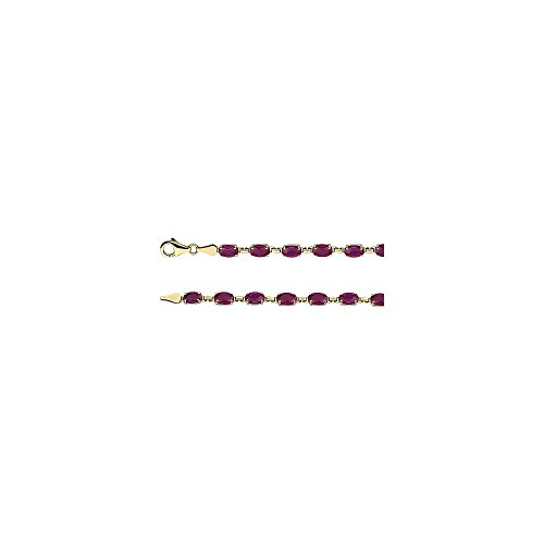Jewels By Lux 14K Yellow Gold Lab-Grown Ruby 7.25