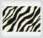 Zebra Pattern Edible Icing Image (1/4 Sheet)