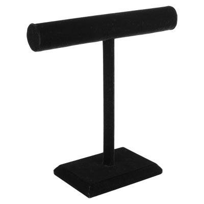 (G GanenNEW Black Velvet Necklace T-Bar Jewelry Display Stand)