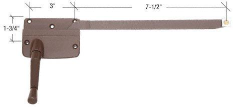 CRL 7-1/2'' Left Hand Bronze Casement Operator - Andersen Windows by CR Laurence