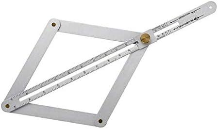 H HILABEE 測定用 マルチアングルゲージ コーナーアングル 片手操作 測定工具 アルミ合金 高精度 - A