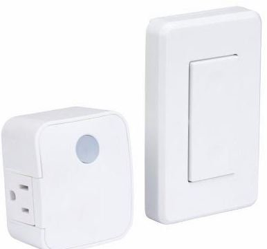 Westek rfk100lc / rfk101lc壁マウントスイッチとプラグイン受信機 1 Pack RFK1600   B077VRP6SZ