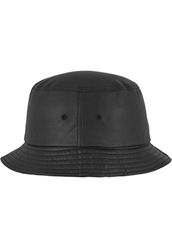 FLEXFIT-full bucket a imitation cuir (noir)