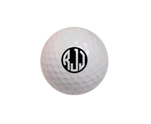 Personalized Golf Balls Callaway SuperSoft Monogrammed Golf Balls- Circle Monogram- Set of 12 ()