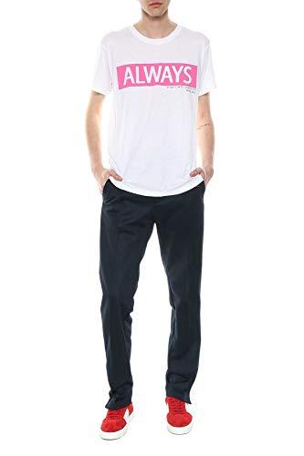(Valentino Men's Pv3mg10f46m0bo White Cotton T-Shirt)