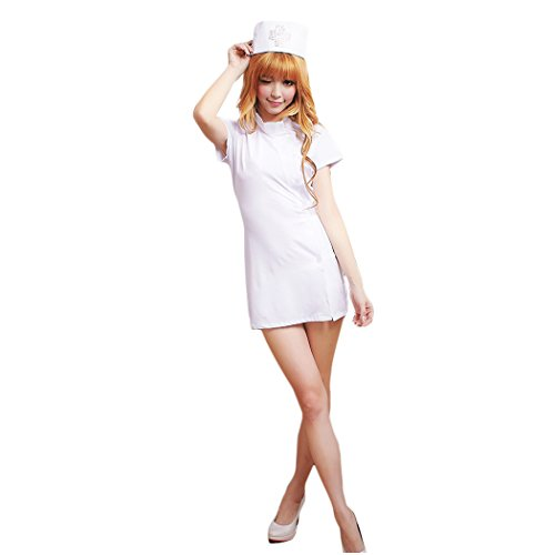 HÖTER Hot Sale Women's Naughty White Pink Nurse Dress Sweet Party Cosplay Costume Set/Sexy Lingerie
