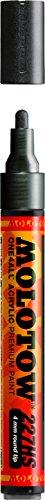 Molotow ONE4ALL Acrylic Paint Marker, 4mm, Metallic Black, 1 Each (227.301)