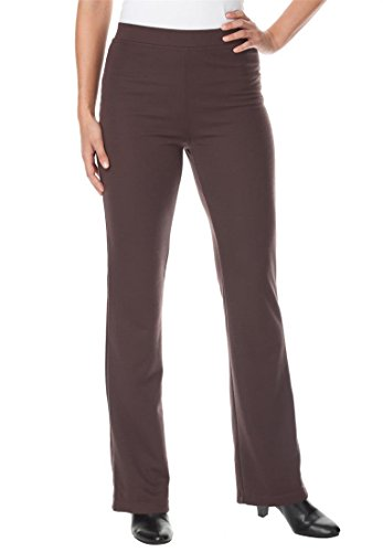 Women's Plus Size Pants, Boot-Cut In Ponte Knit Chocolate...