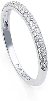 NICOLS 14710020011 - Anillo DIAMOND CLASSIC NICOL´S. Media alianza, Fabricada en oro blanco y diamantes talla brillante. Peso total D0.30ct.