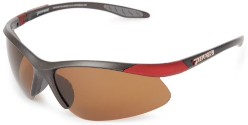 PEPPERS Men's Ricochet Shield Sunglasses,Grey Frame/Brown Lens,one size
