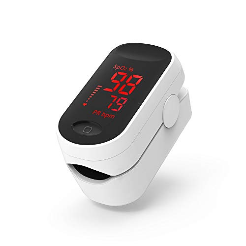 Fingertip Pulse Oximeter Oxygen Monitor SpO2 and Pulse Rate Sensor Sports Exercise SpO2 Fitness Tracker Health Care with LED Display BOXYM C1-LED