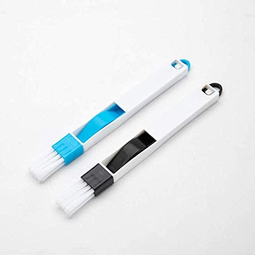 Small Track Brush Black Hand-held Groove Gap Cleaning Tools Door Window Kitchen Brushes Cepillo Limpiador