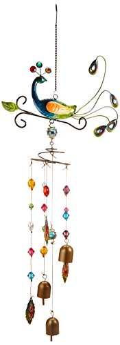 Red Carpet Studios Nature's Jewels Large Wind Chimes, Peacock