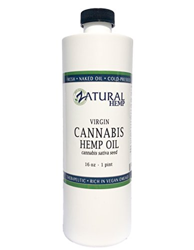 (Hemp Oil Virgin, Cold-Pressed_100% Pure_No Fillers or Additives, Therapeutic Grade (NEW LOOK-SAME AMAZING PRODUCT) (16 Ounce))