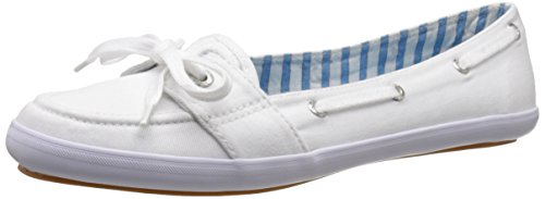 Keds Women's Teacup Boat Seasonal Solid Fashion Slip On, White, 8 M US