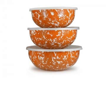 (Golden Rabbit Orange Swirl Mixing Bowls)