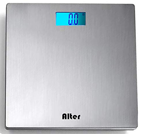 Alter| The Digital Scale Bathroom Scale, 180kg/ 400lb x 0.1kg/ 0.2 lb, with Stand Less Steel Platform, Auto On, Measure Quickly, Larger Display with Back Light