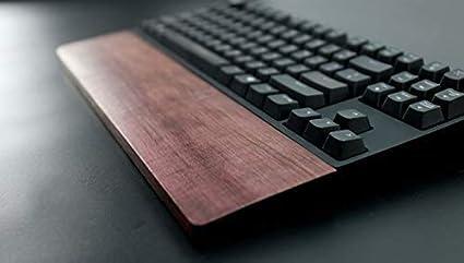 Shootingtoy Teclado mecánico de madera para el reposamuñecas de apoyo para la muñeca de teclado mecánico reposamuñecas (madera estampada, 60 teclas)