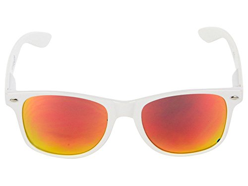 (NCAA Louisville Cardinals  LOU-5 White Frame, Red Lens Sunglasses, White, One Size)