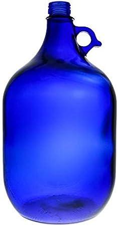 Viva Haushaltswaren - Botella Grande (Cristal, tapón de Rosca, Capacidad de 5 litros), Color Azul