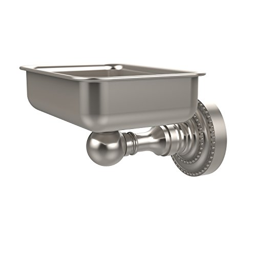 Allied Brass DT-32-SN Soap Dish with Glass Liner, Satin N...