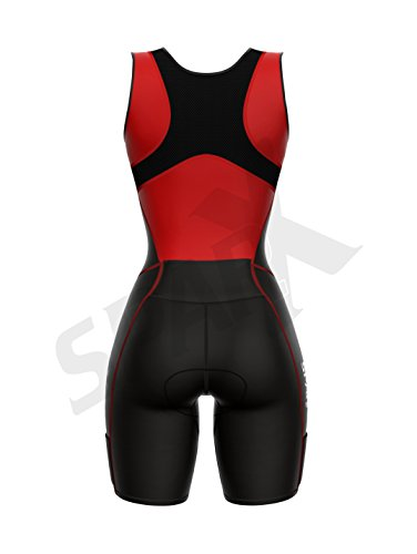 Sparx Women Triathlon Suit Tri Short Racing Cycling Swim Run (Small, Red) by Sparx Sports (Image #4)