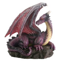 Purple Dragon On Rock Fantasy ()