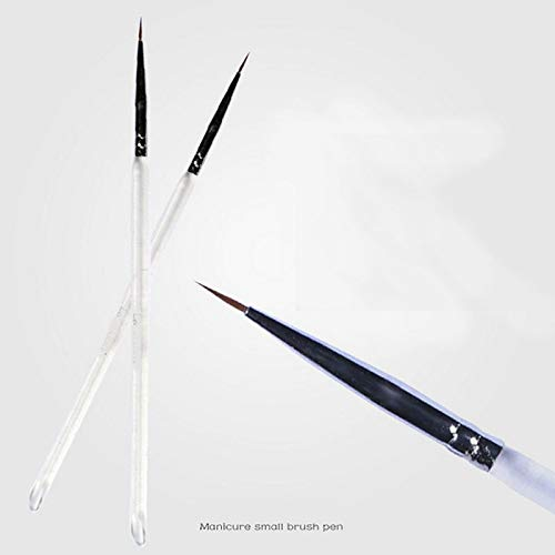 Renovatio Nails - New Carved Flower Hook line Drawing Pen Strokes Nail Pen line Painting Brush Manicure Nail Art 2pcs/lot ()