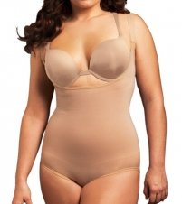 Body Wrap Full Figure Underbust Bodysuit 45008 1X/Nude The Body Wrap Full Figure Wrap