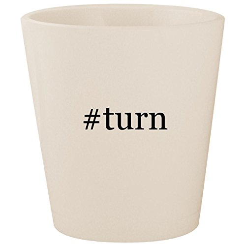 #turn - White Hashtag Ceramic 1.5oz Shot Glass for sale  Delivered anywhere in USA