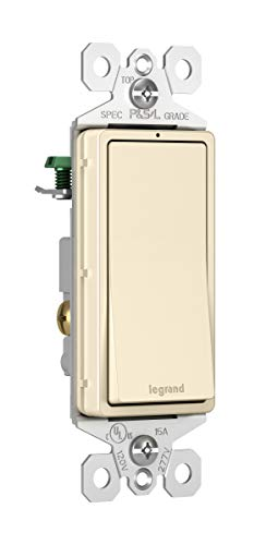 Pass & Seymour TM870LASLCC Trademaster Single Pole Lighted Decorator Switch, Light Almond ()